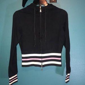 Juniors Medium Black Soot Sweater